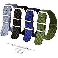 Ritche 16mm 18mm 20mm 22mm 24mm NATO Watch Straps,Nylon Replacement Men Women Bands