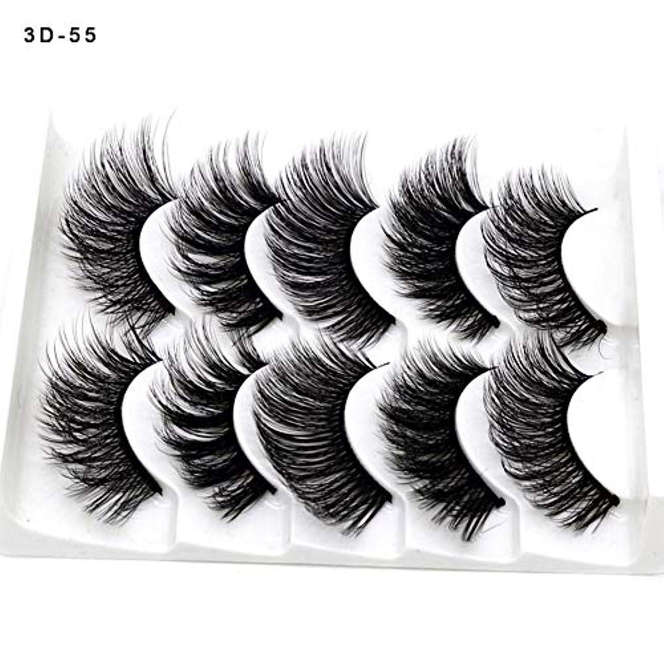 雪年着るSILUN つけまつげ 5ペア つけまつ毛 3D 上まつげ 100%手作り 自然 濃密 メイクアップ ナチュラル 長持ち ピュアナチュラル まつげエクステ ふんわり 大人気