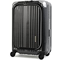 Enkloze X1 Carbon Black Carry-On 21-4 Wheel Spinner 100% Poly TSA Approved (Carbon Fiber Black)