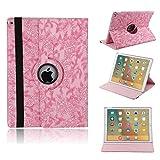 iPad Mini 3 7.9インチ360回転式ケース、elecfanJ スタンド機能付き カバー 手帳型 PUレーザ ケース アイパッド ミニ1/2/3 7.9インチ専用 スリムケース