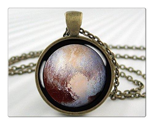 冥王星の惑星ネックレスペンダント樹脂チャーム準惑星冥王星スペースプローブジュエリー