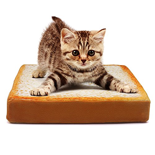 Valuetom (バリュートム) 食パン型ソファ ペット用ベット 食パン クッション マット 猫用ソファ 犬用クション ふわふわ 食パンソファベッド 食パン型座布団 猫用ベッド 高品質