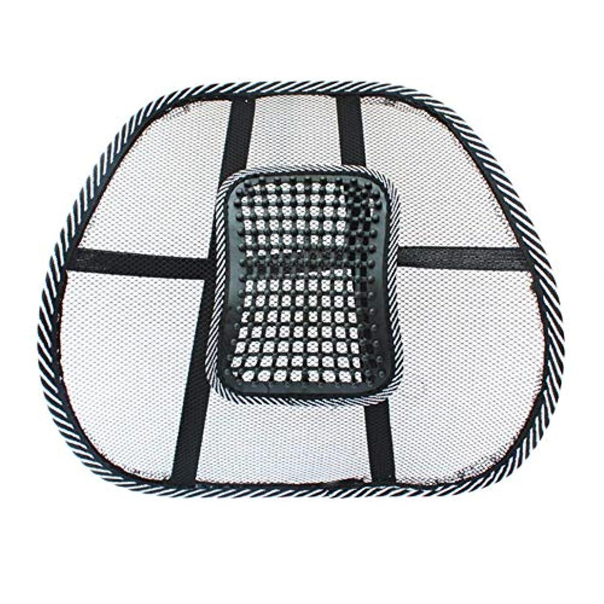 クレタ関連する不道徳チェアマッサージバックランバーサポートメッシュベンチレーションクッションパッドカーオフィスシート-Innovationo