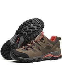 [HIFEOS]トレッキングシューズ メンズ レディース 防水 ローカット 登山靴 28.0cmまで 大きいサイズ 幅広 ダイヤル 防滑/通気性/ 耐磨耗/衝撃吸収/軽量 アウトドア/ハイキング/山歩き/里歩き/登山道