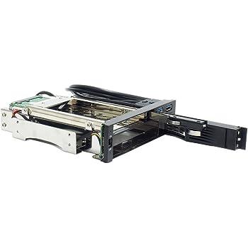 オウルテック 5.25インチベイ内蔵専用HDDケース 2.5インチ&3.5インチHDD各1台簡単増設 SATA接続 フロントUSB3.0(2ポート)付き Windows8.1対応 ガチャポンパッダイレクト ブラック OWL-IE5CU3B