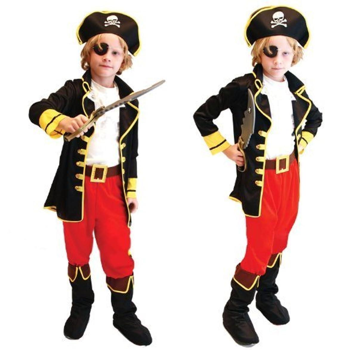 を必要としています言い直す合体GiftTower 海賊 コスプレ パイレーツ 衣装 キッズ 子供 6点セット (ジャケット 前掛け ズボン 帽子 ベルト 眼帯 ) Halloween ハロウィン クリスマス コスプレ 仮装 (120~130cm) L