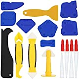 20 Pieces Caulking Tool Kit,Sealant Finishing Tool Grout Scraper, Reuse, Great Tools for Kitchen Bathroom Window, Sink JointS
