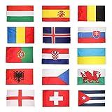 ノーブランド品 2枚 国旗 ハンド国旗 バナー 運動会 試合日 応援 お祭り 飾り  90×150cm 全15パタン選べる - ベルギー