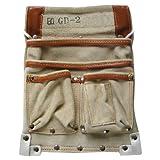 カクイ カドゴム最高級腰袋 デルマ皮仮枠袋 GD-2