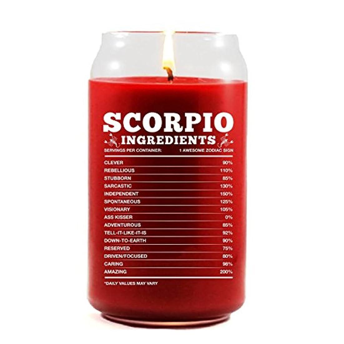 深遠知らせる記念Scorpio原料Scorpio Zodiac Star Signギフト – Scented candle 16 Oz レッド