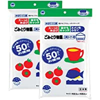 ボンスター 水切り袋 ゴミ袋 ごみとり物語 三角コーナー用 (片面フィルム) 50枚入×2個セット