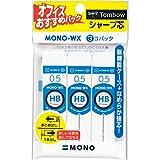 トンボ鉛筆 シャープ芯 MONO WX 0.5 HB ECE-321 3個