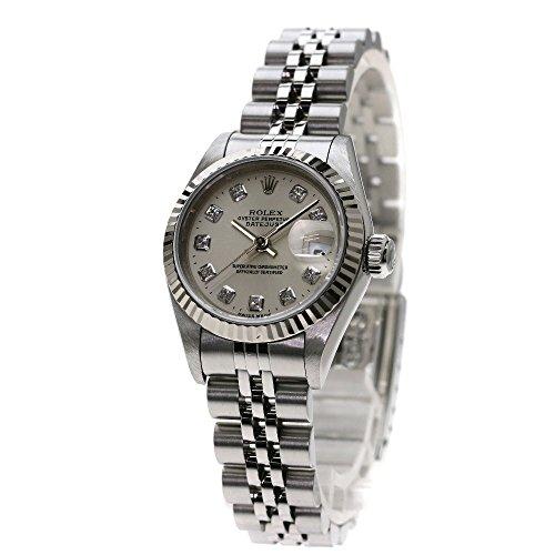 ROLEX(ロレックス) デイトジャスト 10Pダイヤモンド 腕時計 ステンレス レディース (中古)