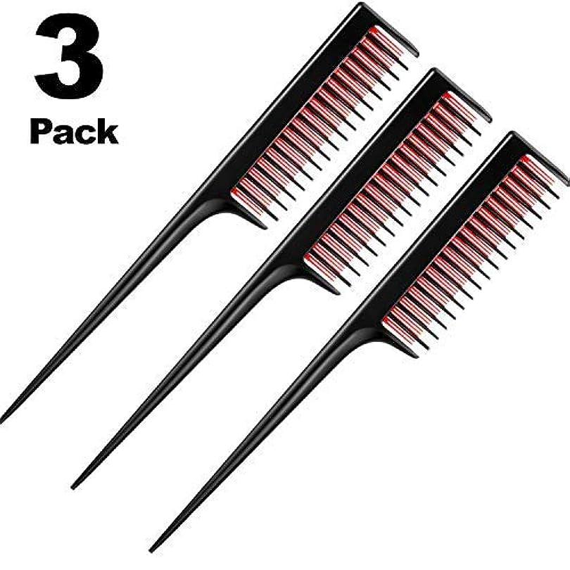 環境ゴルフ大人3 Piece Triple Teasing Comb, rat tail combs for women,Tool Structure Tease Layers Rattail Comb,Rat Tail Comb for...