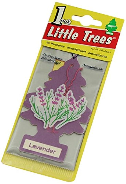 記録慰め約設定Little Trees 吊下げタイプ エアーフレッシュナー ラベンダー 5枚セット(5P)
