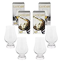 (4 Pack w/Gift Boxes) - Glencairn Crystal Whiskey Glass, 4 Pack Gift Set