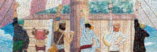 950ピース ジグソーパズル ワンピース モザイクアート (仲間の印) (34x102cm)