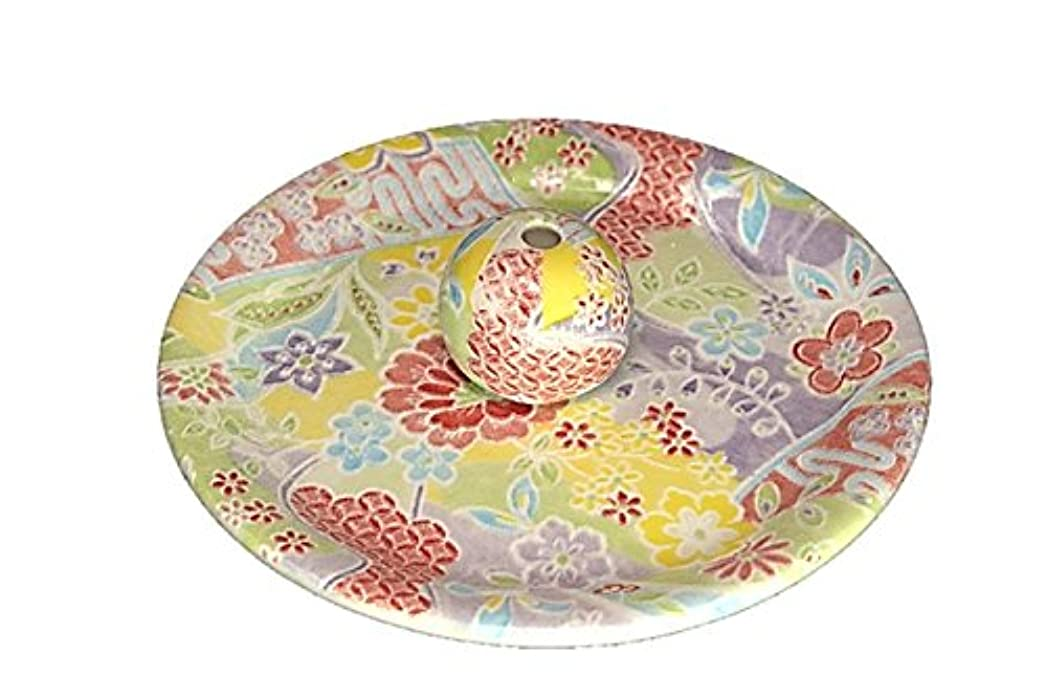 グロー再生的一緒に9-51 華舞 お香立て 9cm香皿 お香たて 陶器 日本製 製造?直売品