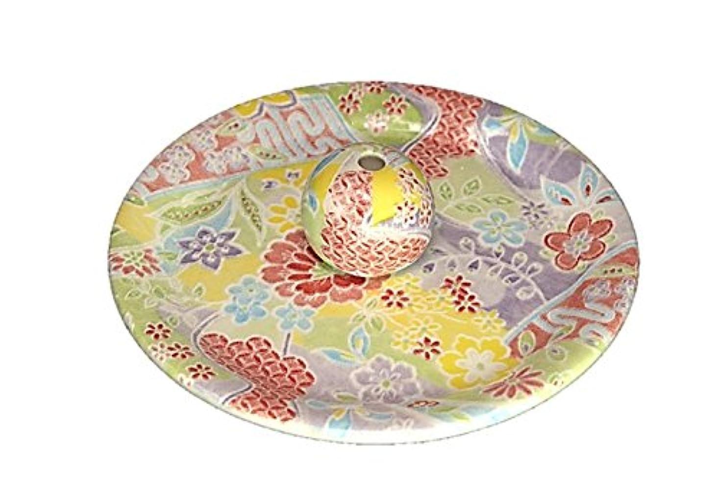 浅いラメ動的9-51 華舞 お香立て 9cm香皿 お香たて 陶器 日本製 製造?直売品