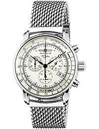 [ツェッペリン]ZEPPELIN 腕時計 100周年モデル シルバー文字盤 7680-M1 メンズ 【並行輸入品】