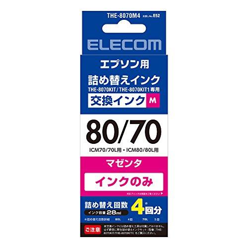エレコム エプソン用80/70交換インク THE-8070M4 1個