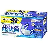 ユニ・チャーム 超快適マスクプリーツタイプふつうサイズ 3層式 1箱(40枚入) 日本製 PM2.5対応