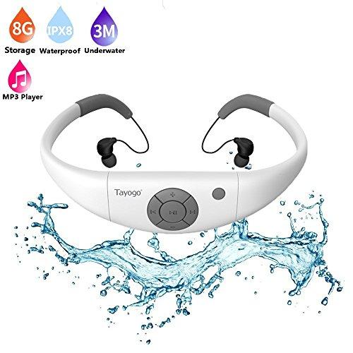Tayogo ヘッドホン一体型 防水MP3プレーヤー 8GB...