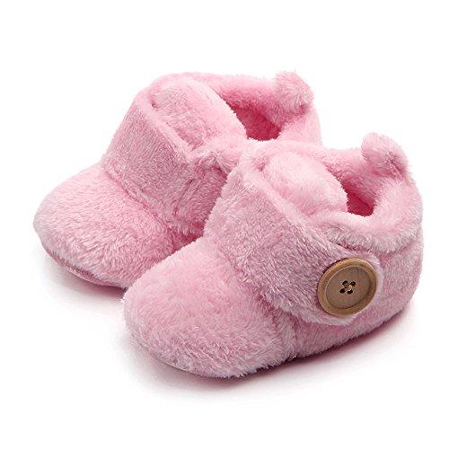 [ルテンズ] 乳児靴 温かい 女の子 男の子 滑り止め 子供 靴 花柄 シンプル0-2歳 誕生日 プレゼント ベビーシューズ 耐磨 おしゃれ カッコイ 履きやすい キッズ ブーツ