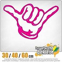 KIWISTAR - Hang loose - Shaka 15色 - ネオン+クロム! ステッカービニールオートバイ