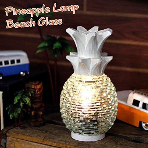 RoomClip商品情報 - パイナップルランプ「BEACH GLASS/ビーチグラス」(ホワイト) /インテリア/照明/ハワイアン雑貨/