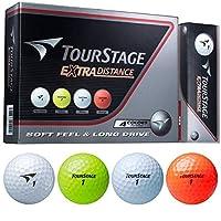 BRIDGESTONE(ブリヂストン) ゴルフボール TOURSTAGE エクストラ ディスタンス 1ダース(12個入り) 4色アソート TEWXAC
