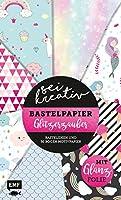 Sei kreativ! - Bastelpapier Glitzerzauber: Bastelideen und 30 Bogen Motivpapier - Mit bunter Glanzfolie