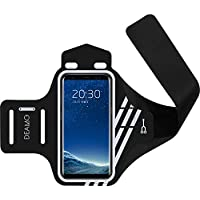 ランニングアームバンド deamo スポーツアームバンド iPhone 6/7/8Plus/SHARP/Xperia 等全機種対応 ウォーキング・ランニングに最適、超軽量・防汗【18ヶ月保証】