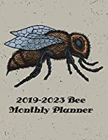 2019-2023 Bee Monthly Planner: 60 Months Calendar Planner - Pretty Simple Planner For Staying on Track, Self Management & Personal Growth