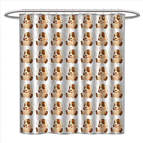 Suchashome Dog Lover シャワーカーテンコレクション カラフルな足跡プリント柄 様々なサイズ 抽象的なアニマル カナイン フェイン 柄 シャワーカーテン 幅36 x 長さ72 マルチカラー W69