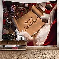 クリスマスタペストリー、クリスマスの装飾の様々なプレゼントをBLING、ベッドルームリビングルーム寮のための装飾をぶら下げファブリック・ウォール(59「×51」),D
