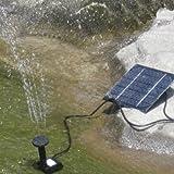 ソーラーパネルで省エネ仕様 池でも使えるソーラー池ポンプ!◇H4009