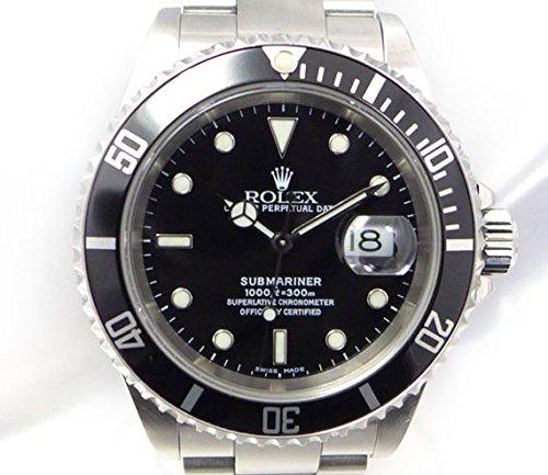 ROLEX ロレックス サブマリーナ デイト Ref 16610 K番 自動巻き ブラック(黒)文字盤 お洒落で上品な腕時計 【中古】[ic]