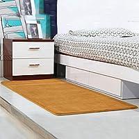 TJTJ ホームファッションカーペットシンプルな寝室サンゴベルベットベッドサイドマットコーヒーテーブルリビングルームエントランスマット飾る (Color : 4, サイズ : 70*160cm)