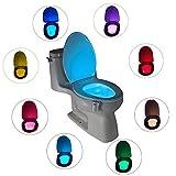 トイレナイトライトLEDライトegymcomモーション活性化LEDトイレナイトライト(電池式)トイレ用トイレ (1 Pack)