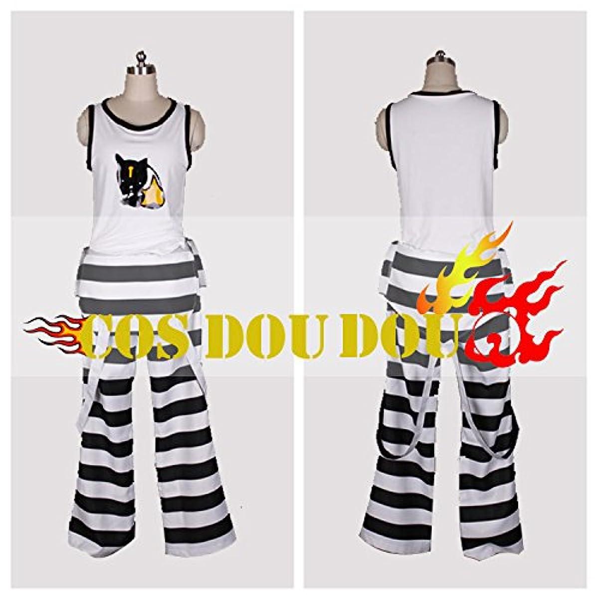 模索舌なパンラッキードッグ Lucky Dog1 ジャンカルロIvan 囚人服 コスプレ衣装 コスチューム ハロウィン クリスマス COSPLAY (男性XL)