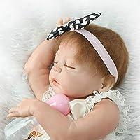 Reborn新生児赤ちゃん人形フルボディシリコンSleeping Girl 22インチビニールLifelike Kids Toys with Magneticおしゃぶり