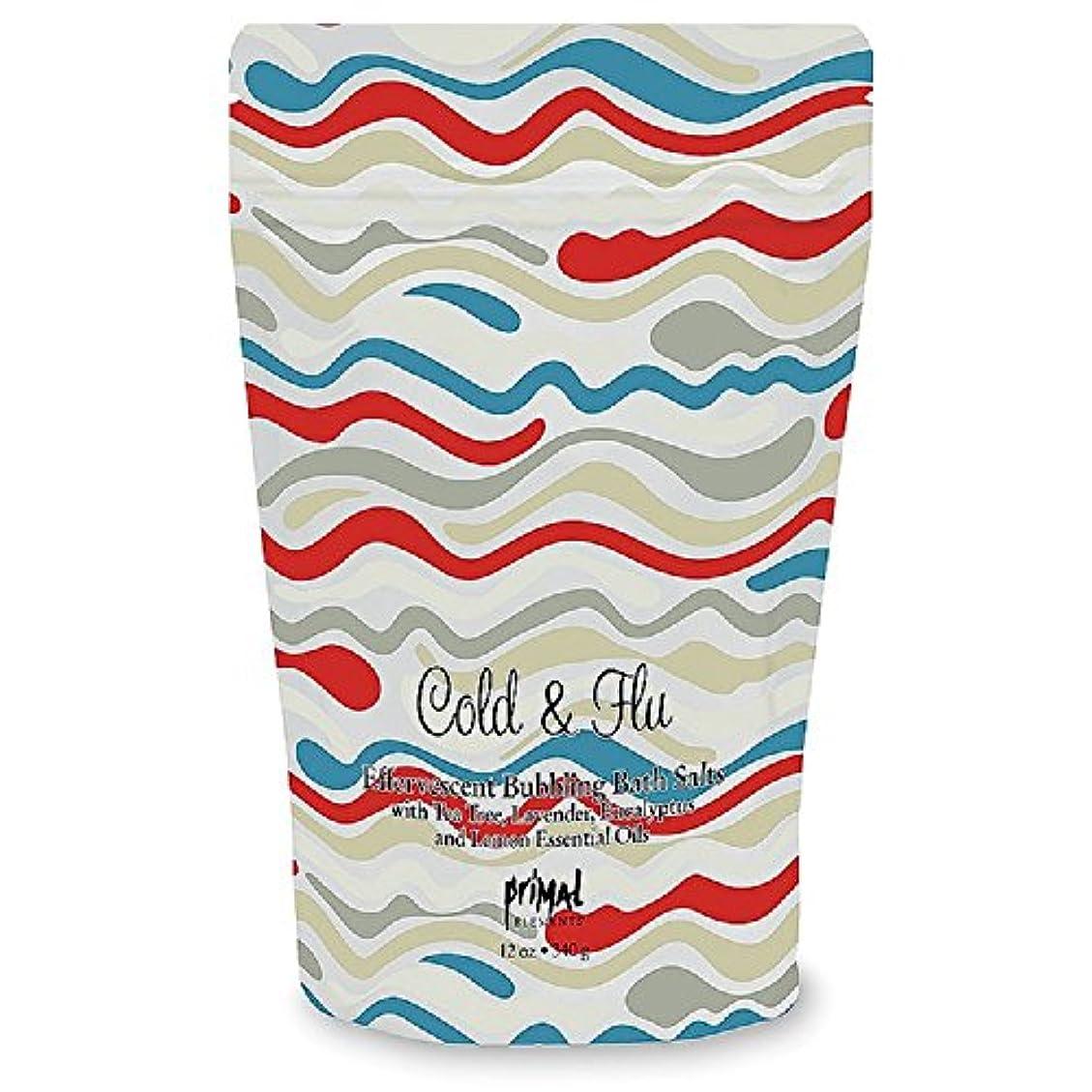 プライモールエレメンツ バブリング バスソルト/コールド&フルー 340g エプソムソルト含有 アロマの香りがひろがる泡立つ入浴剤