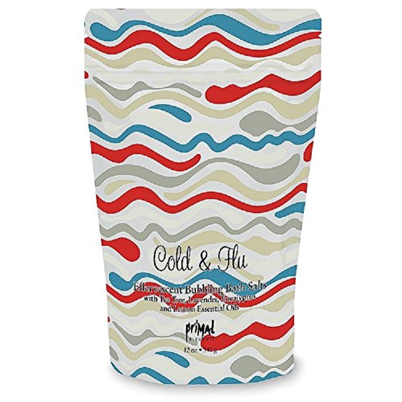 あいまいさカヌーに付けるプライモールエレメンツ バブリング バスソルト/コールド&フルー 340g エプソムソルト含有 アロマの香りがひろがる泡立つ入浴剤