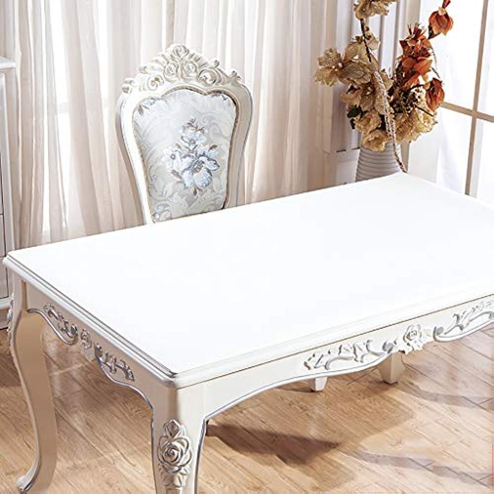 エイリアンリビジョンレトルト長方形のポリ塩化ビニールのテーブル クロス,防水 机のためのオイル防止テーブルパッド コーヒーテーブル ドレッサー 合成皮革 ダイニング テーブル プロテクター-白い 60x90cm