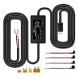 【改良型】 VANTRUE ドライブレコーダー用 電源ケーブル USB電源直結コード 降圧ライン 3m 24時間駐車監視用 12V 24V対応 5V輸出 四つヒューズホルダー付き R2  R3 N2 N2 PRO  X1  X1 PRO  X3  ドライブレコーダー レーダー探知機 ミラー型ドライブレコーダー GPS 対応