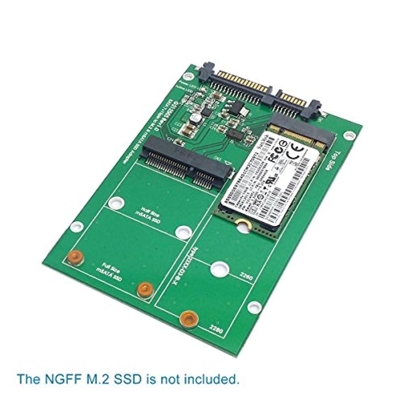 パッド色合い放棄されたCHENYANG 2 in 1コンボMini pci- E 2 Lane M。2 NGFF & MSATA SSD to SATA 3.0 IIIアダプタコンバータPCBA