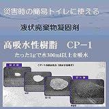 高吸水性樹脂500g(簡易トイレの吸水材、流動性廃棄物固化に最適:1gで水300ml以上を吸水)
