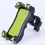 Vsllcasu 自転車ホルダー スマートフォンマウントホルダー スマホ固定用ホルダー 旅行用バイクスタンド 360度回転携帯ホルダー 調整可能 iPhone/Andriodなど多機種対応 (グリーン)
