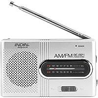 Fosa ユニバーサルポータブル AM/FMミニラジオ ステレオスピーカー レシーバーミュージックプレーヤー
